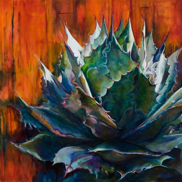 AGAVE WITH RED ORANGE